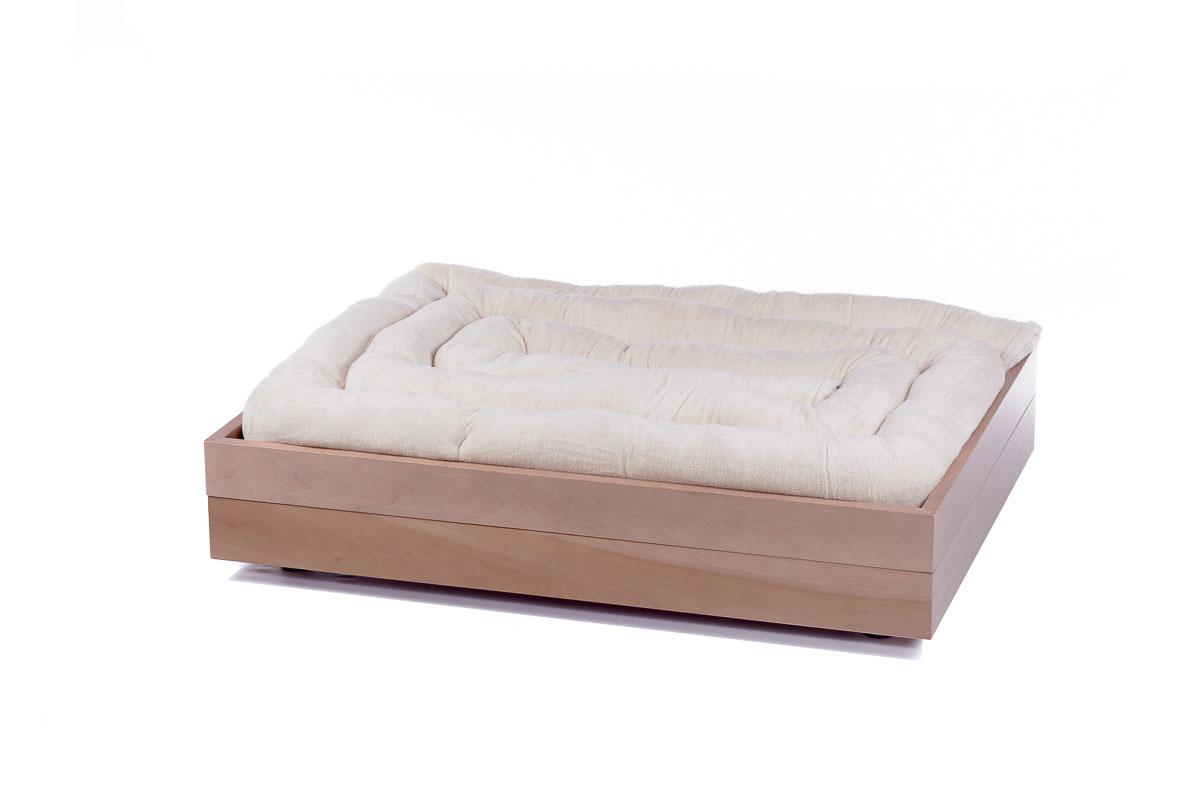 letto per cani in legno