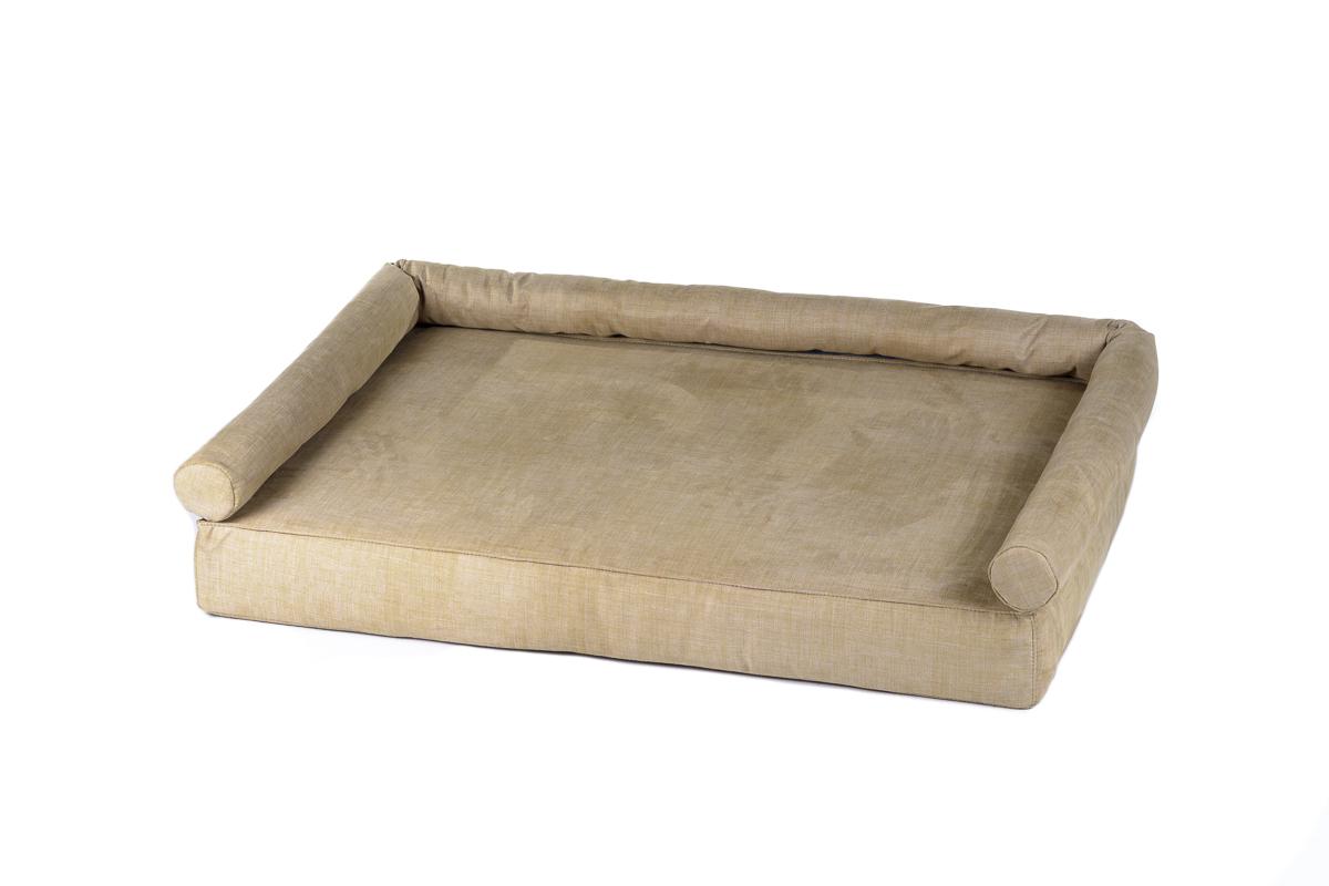 Cuscino rettangolare con bracciolo per cani