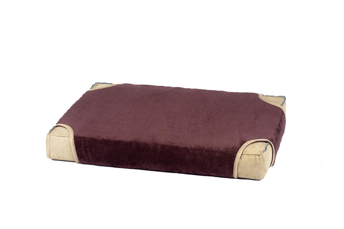 Cuscino rettangolare con coperta per cani